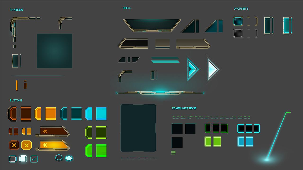 video game UX design UI artist art Nova Blitz