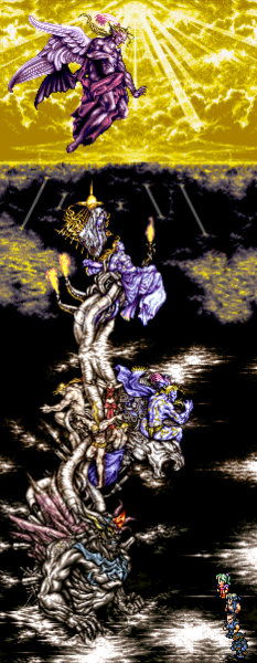 The Lighthouse The Wingless Homage versus Kefka FF6 Tower of the Gods