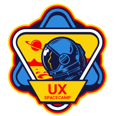 UX Spacecamp learn video game UI and UX logo huge