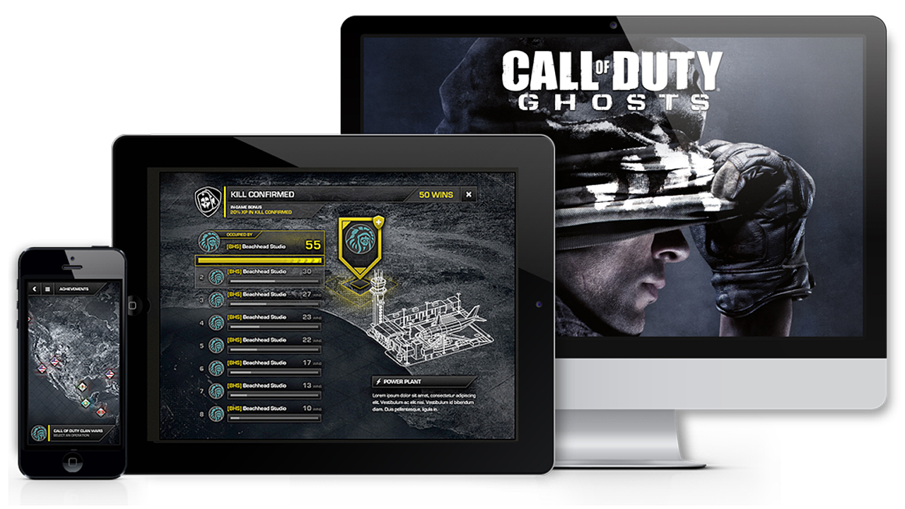 video game UI Artist example call of duty