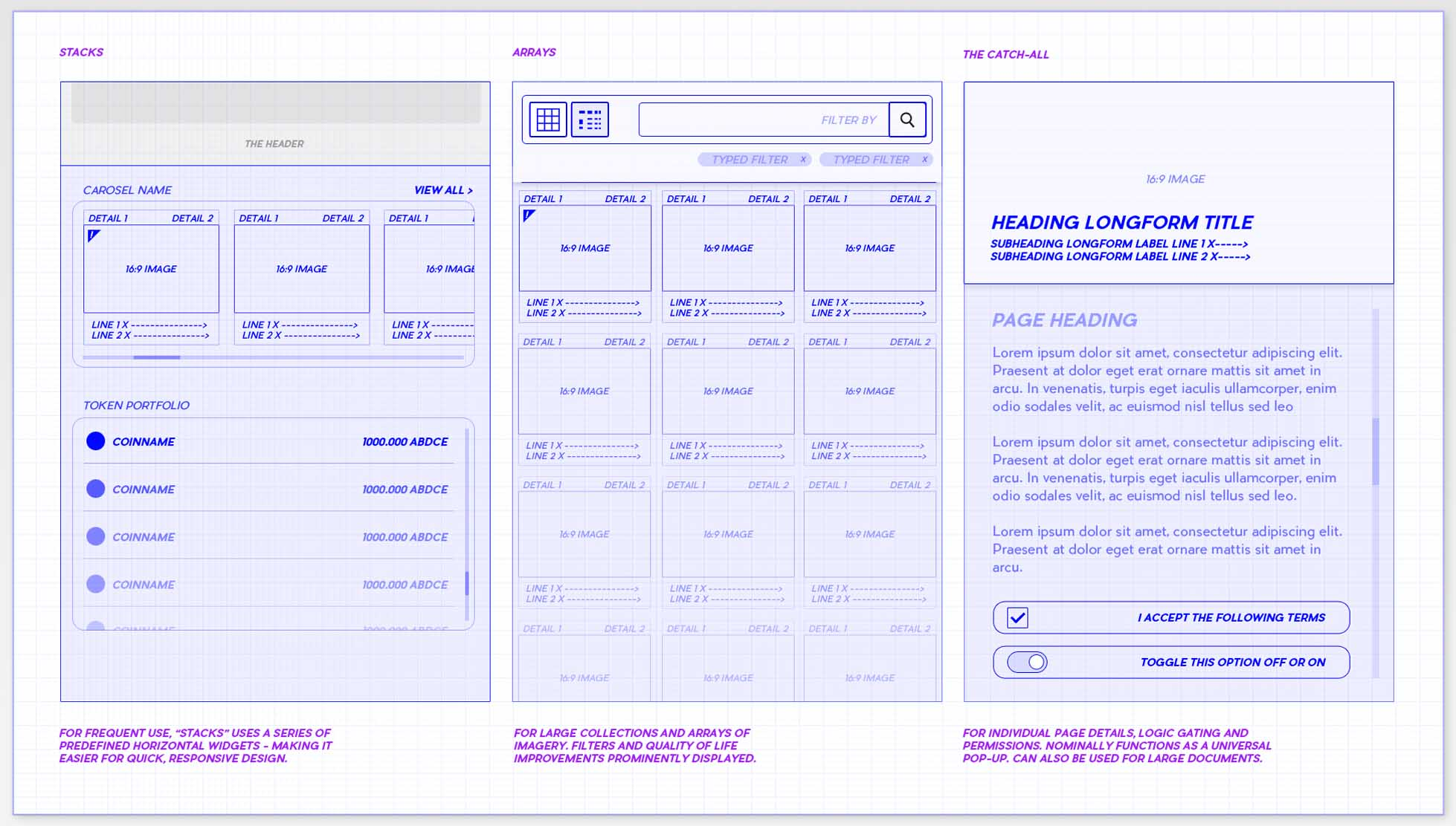 Game UI UX Design Course wireframe example web design