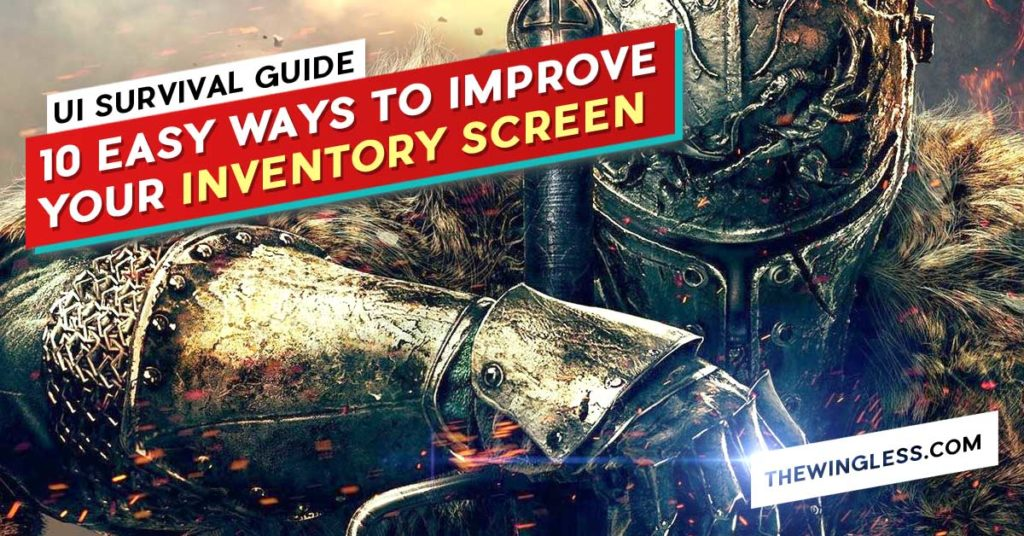 Blog Cover Game UI UX Design Course cover dark souls inventory